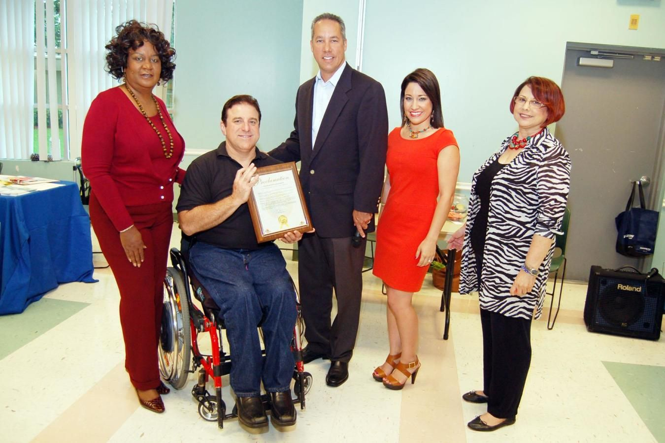 Mayor George Vallejo presents NMB Chamber President, Evan Piper, with Proclamation!