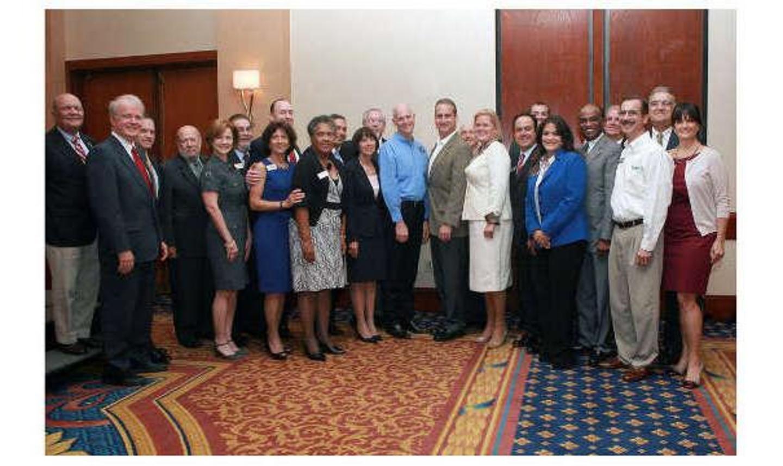 Consiglio di amministrazione di Chamber US con il governatore della Florida Rick Scott e il membro del Congresso degli Stati Uniti Mario Diaz-Balar