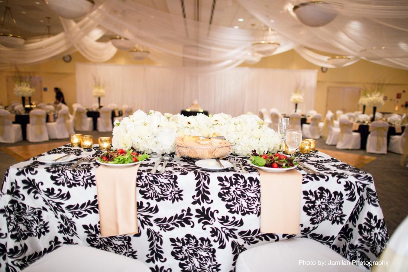 Waterfront Wedding Reception in Grand Ballroom