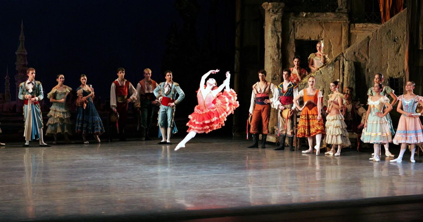 Miami City Ballet dancer Mary Carmen Catoya in Don Quixote. Photo © Joe Gato.