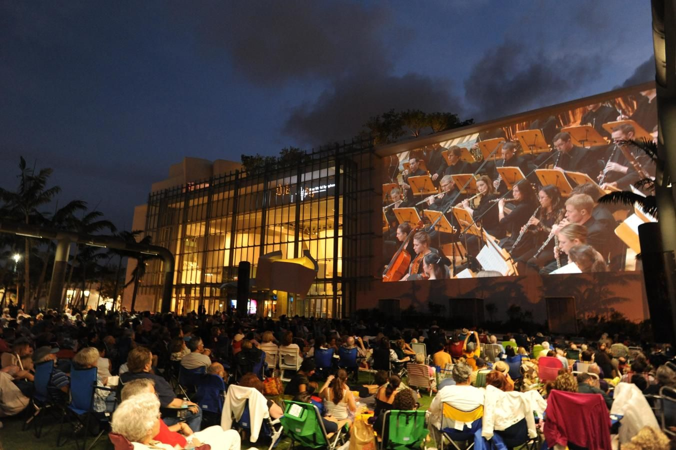 New World Symphony WALLCAST concerto no New World Center - foto por WorldRedEye