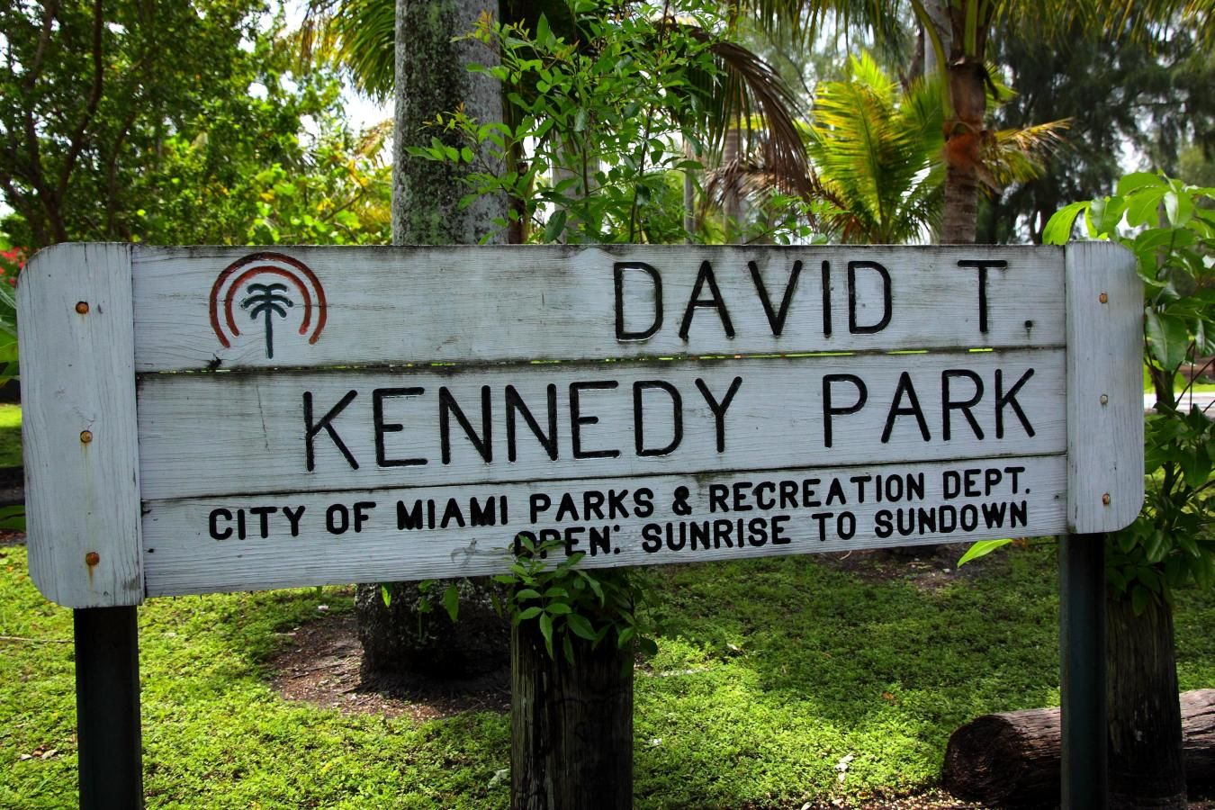 David T. Kennedy Park sign