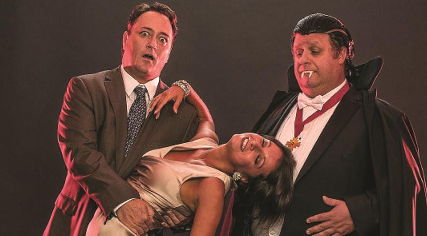 Todd Allen Durkin, Vera Varlamov and Ken Clement in Bite Me Summer Shorts 2013 (City Theatre, Miami)