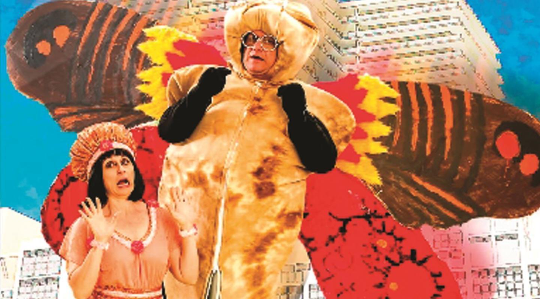 Irene Adjan et Ken Clement dans Mothra contre l'agent de casting, un short d'été Allégorie 2013 (Ville Th