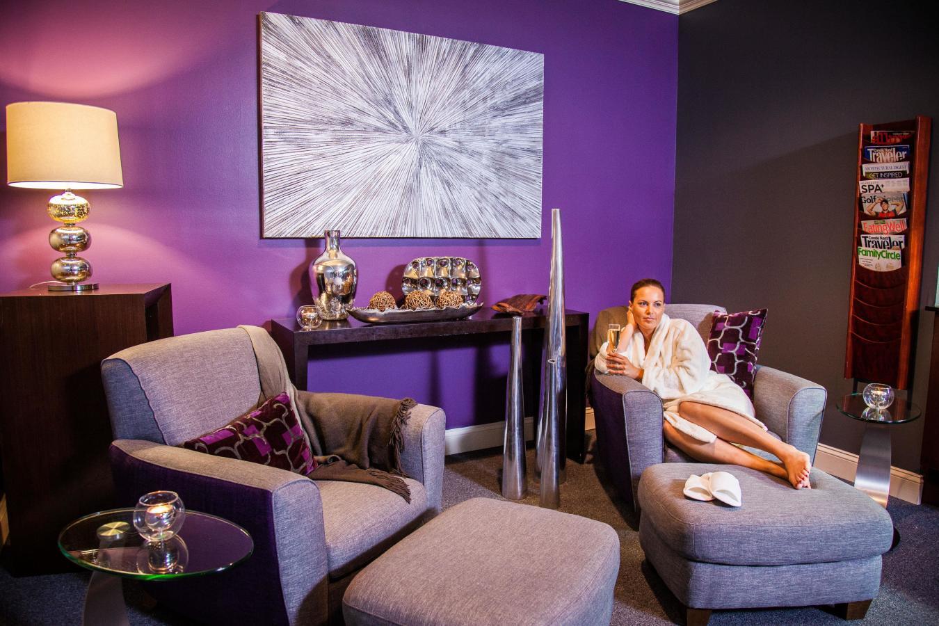 Calming Lounge at Elemis Day Spa, Merrick Park.