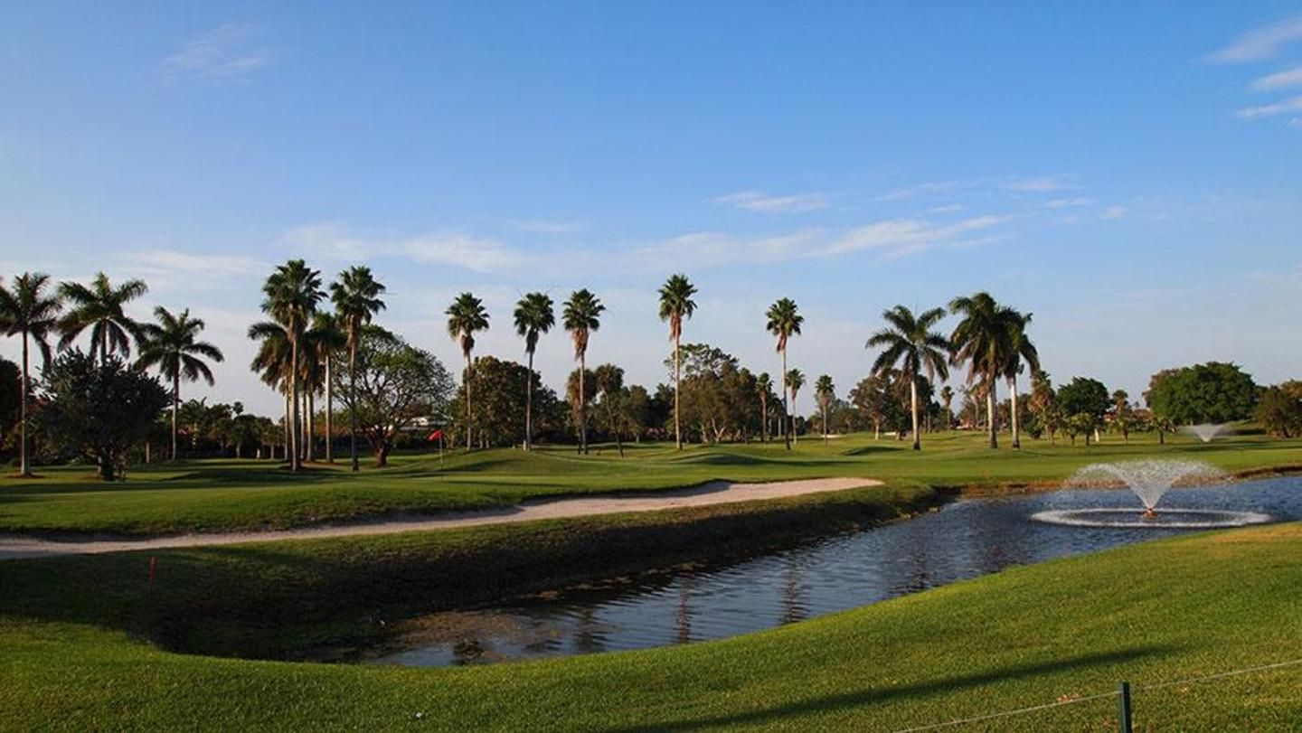 A view from the clubhouse at Country Club of Miami