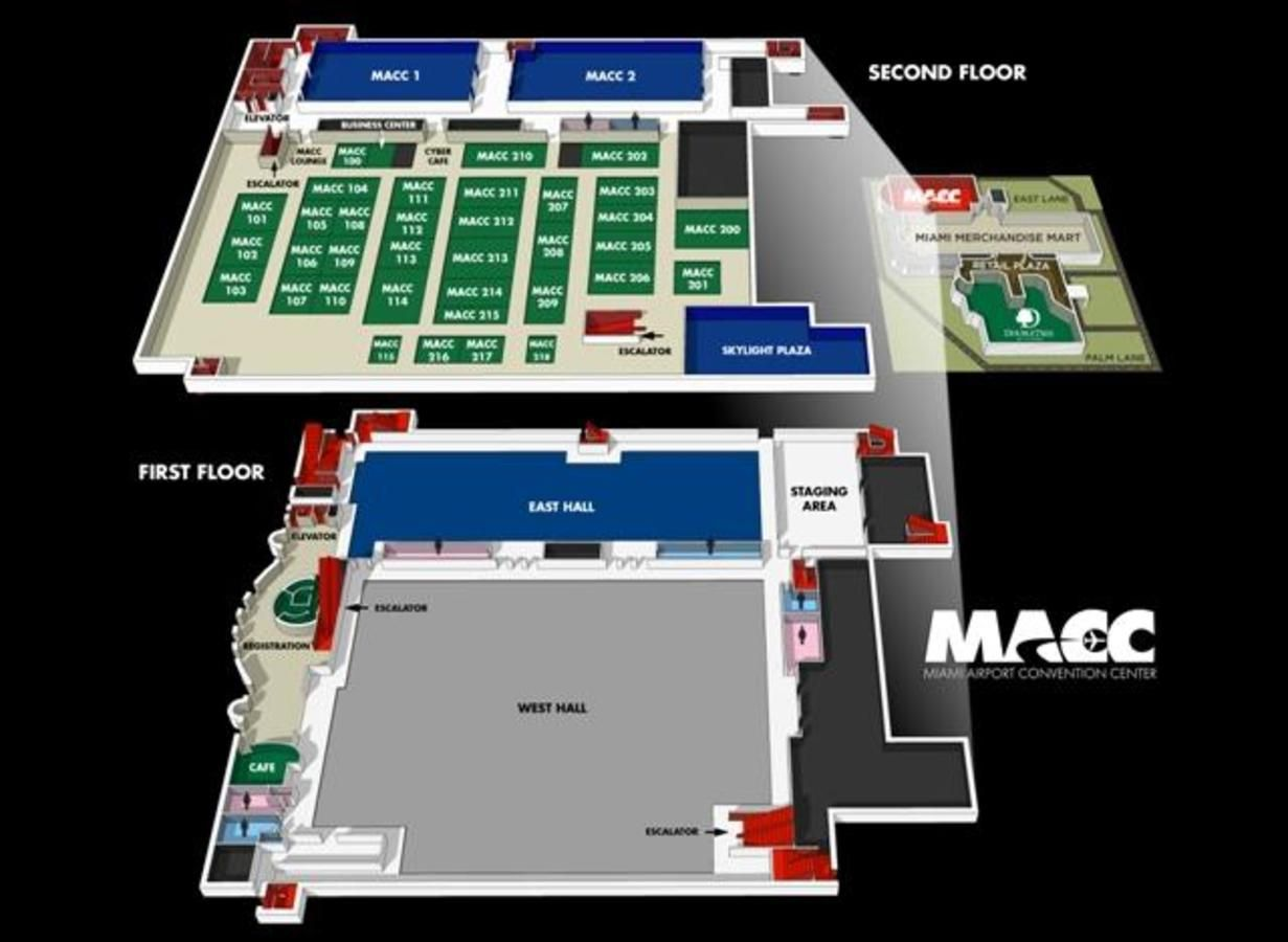 miami airport convention center (macc) in airport area, fl