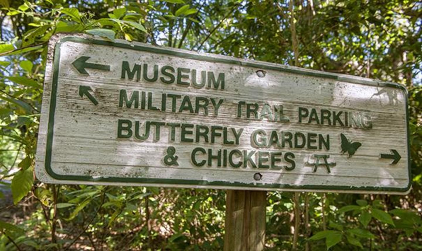 Arch Creek Park & Nature Center Museum Military Trail sign