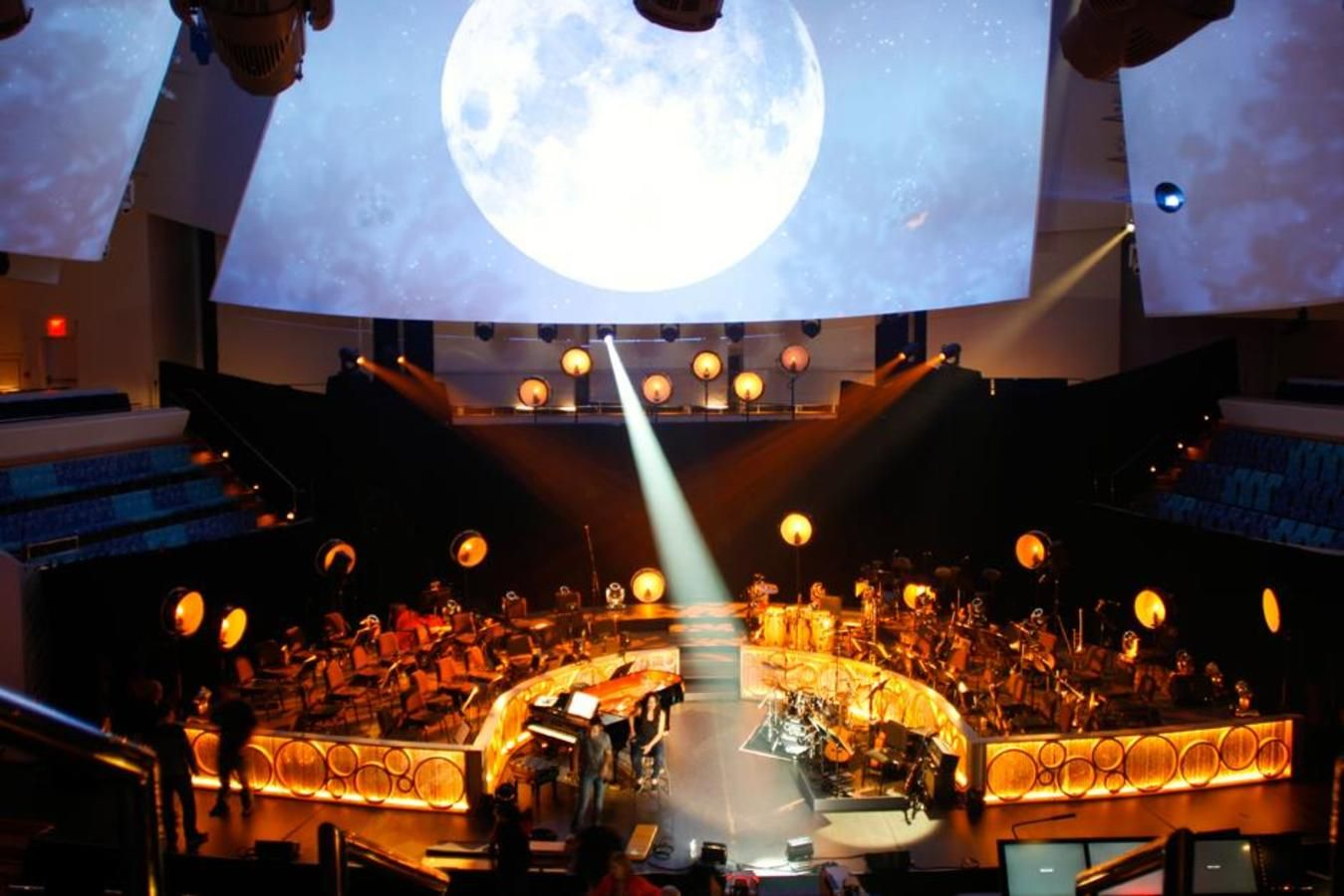 Performance Hall Concert Featuring Immersive Video Projection