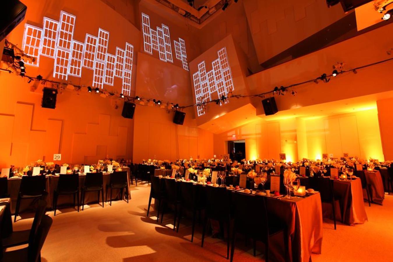 Überzogenes SunTrust-Pavillon-Abendessen mit Projektions- und Akzentbeleuchtung