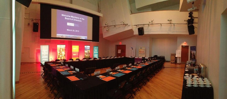 SunTrust Pavilion SW Ansicht der Vorstandssitzung mit Videoprojektion