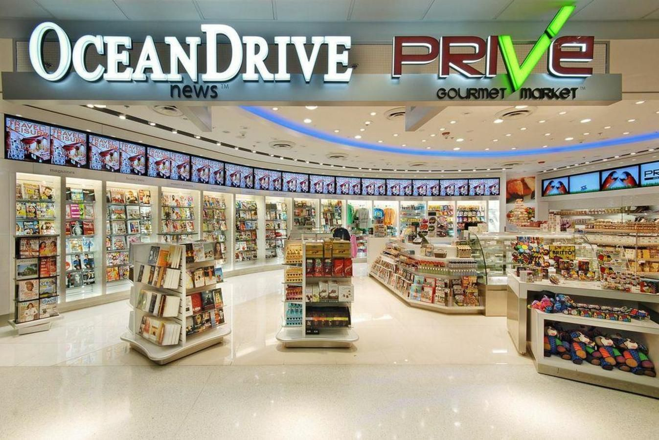 Ocean Drive News & Prive Gourmet Market MIA- North Terminal by Gate D-36