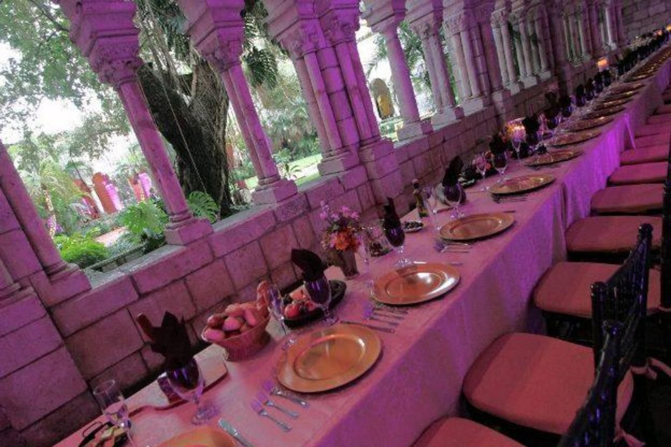 Company party at Spanish Monastery with renaissance theme