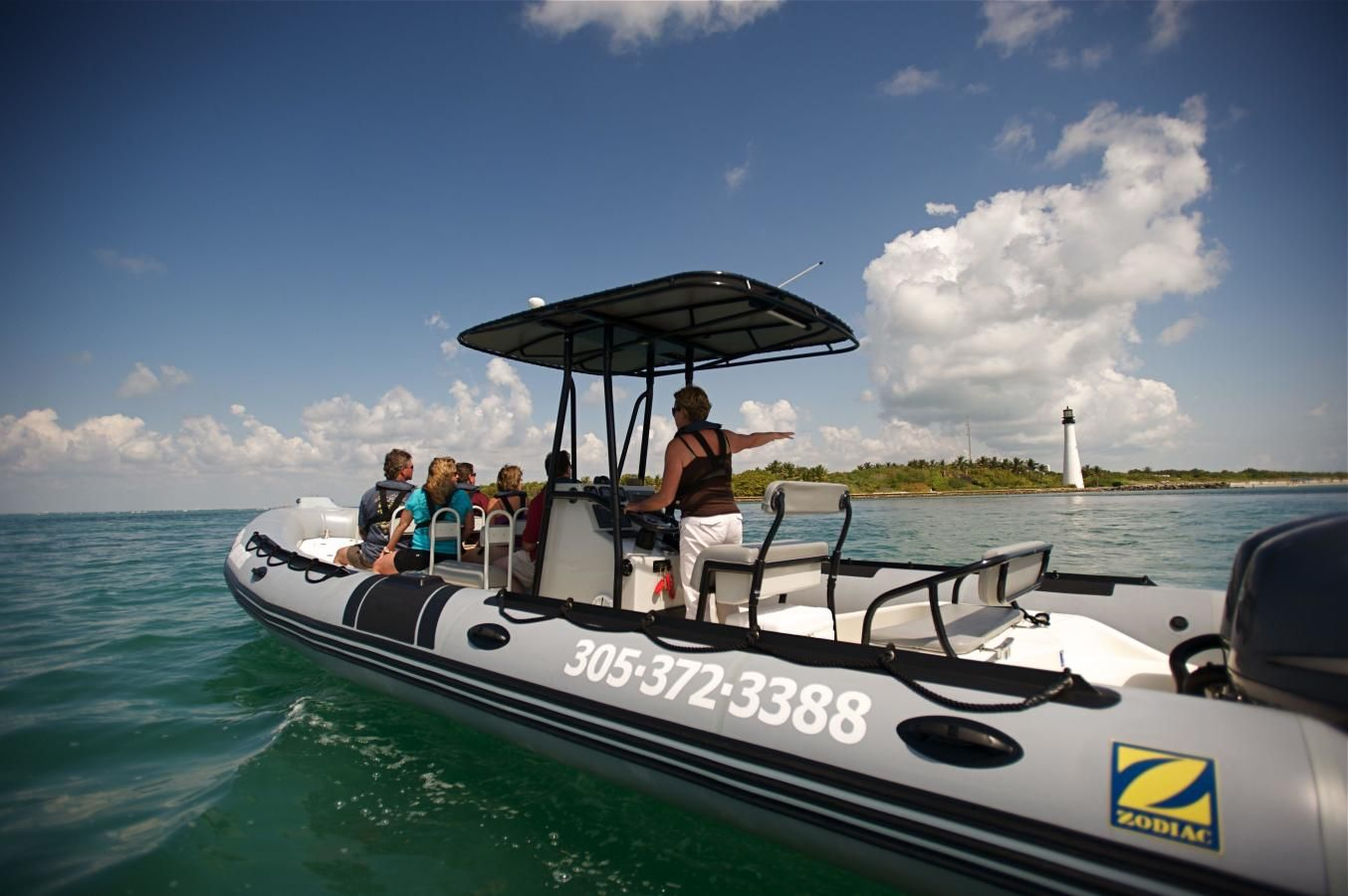 Ocean Force Adventures visiting Cape Florida Lighthouse on Key Biscayne