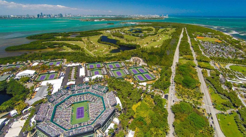 Arial View of Crandon Tennis Center