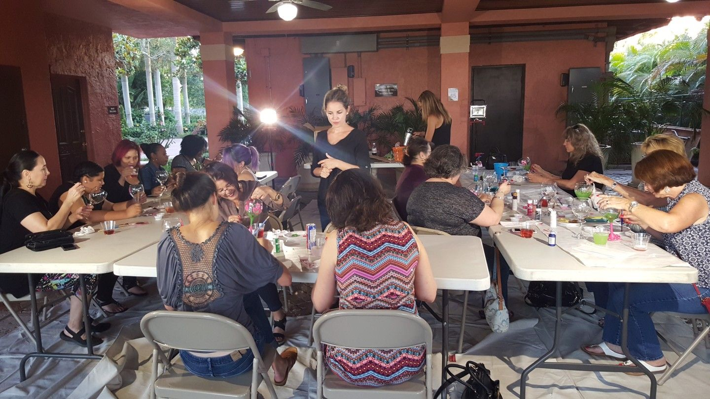Community Events - Wine Glass Painting