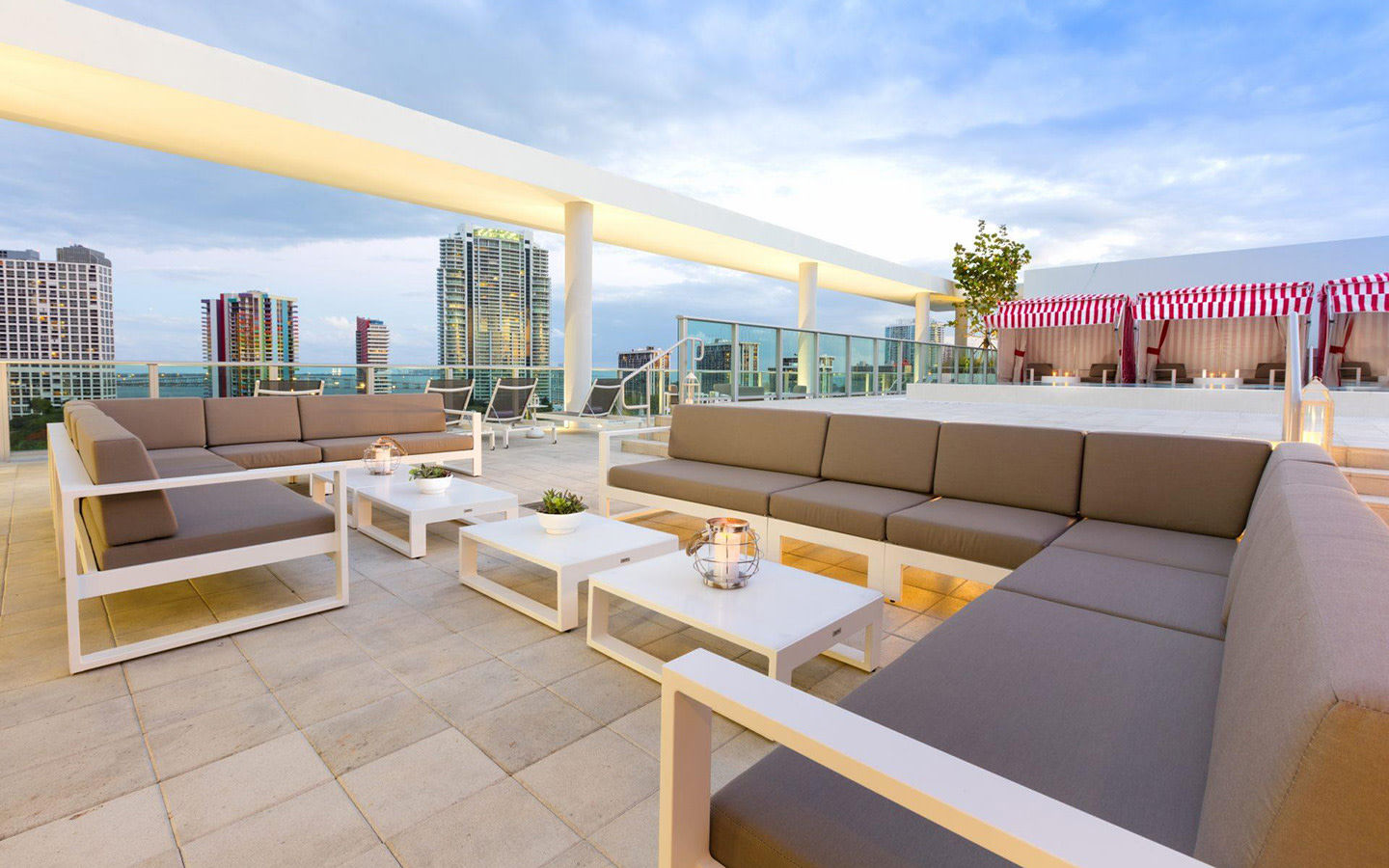 Rooftop patio area