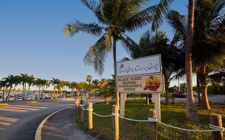 Entrance to Black Point Park and Marina