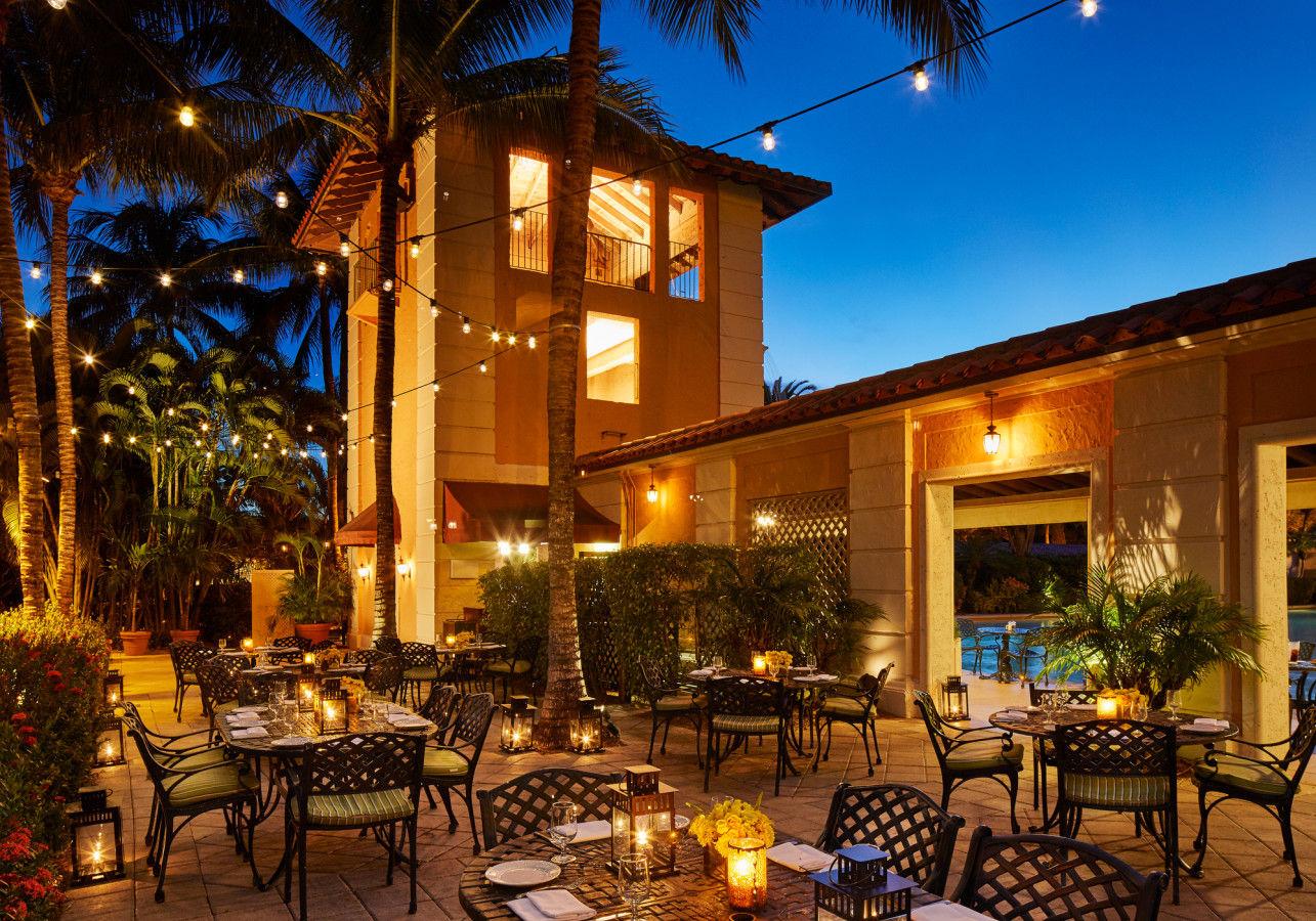 Cascade Terrasse du restaurant