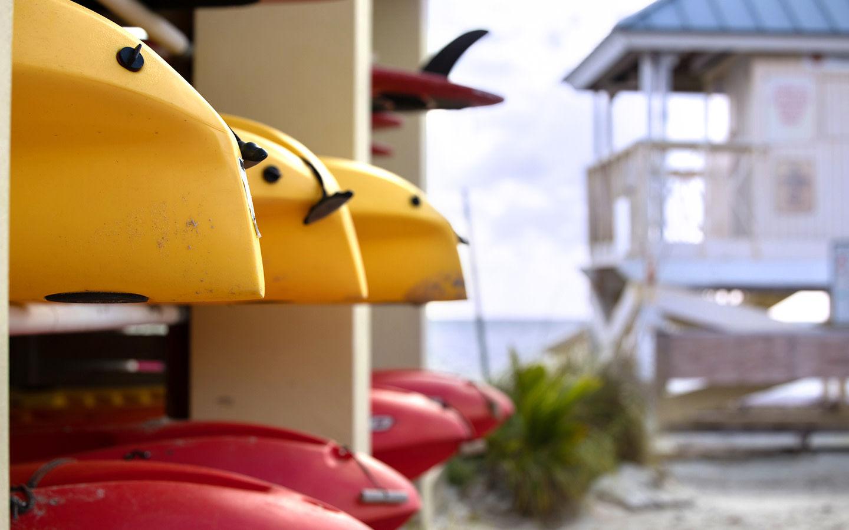 Rental kayaks at Crandon Park