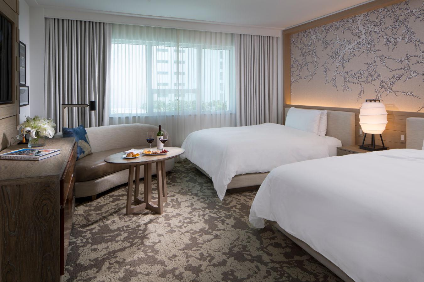 Deluxe Two Queen Bay View - Nobu HotelMiami Beach