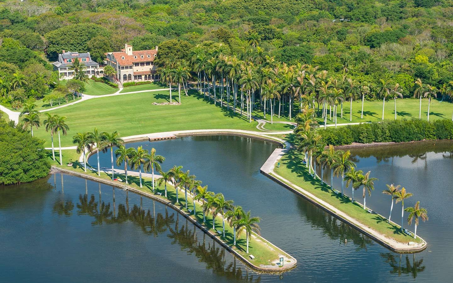 Aerial view of Deering Estate