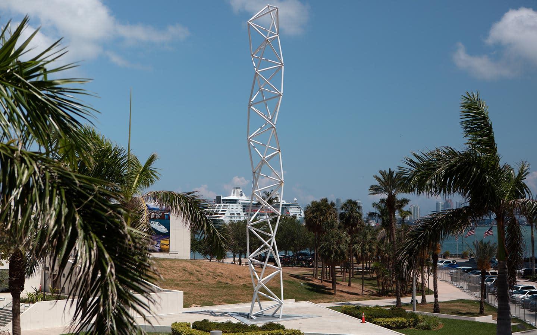 Challenger Monument in Bayfront Park