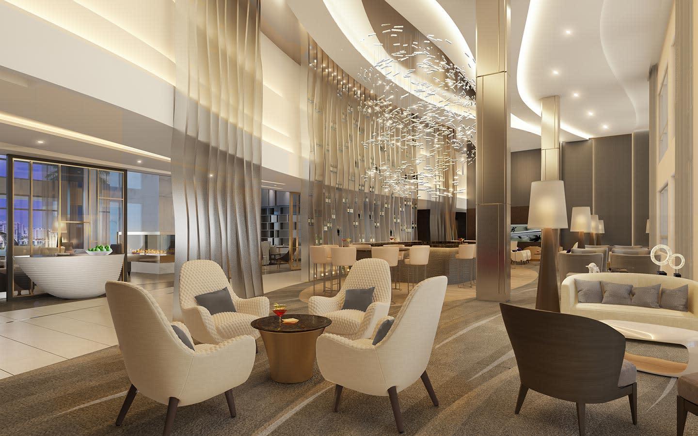 Hilton Aventura Bar area
