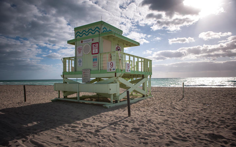 Haulover Beach lifeguard stand