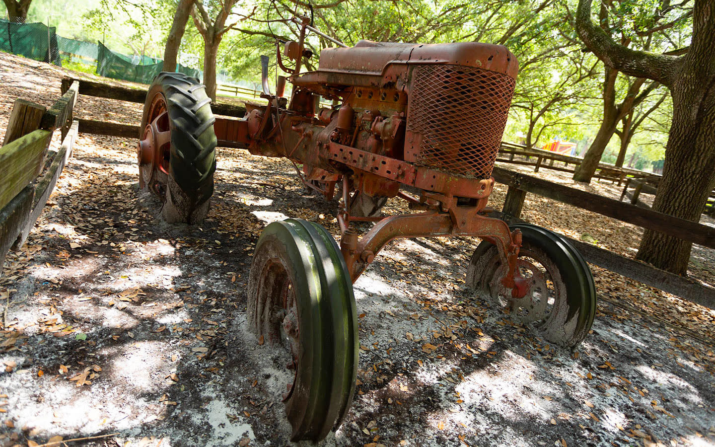Old tractor found at Amelia Earhart Park
