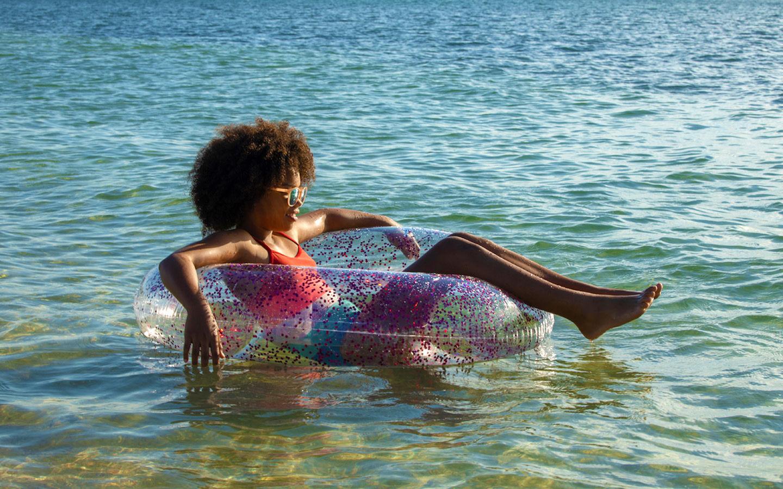Floating at historic Virginia Key Beach Park