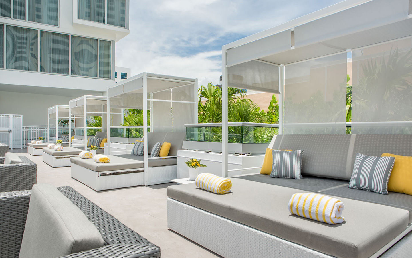 Rooftop Deck Pool Cabanas