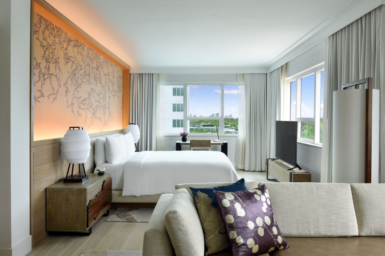 Suite Junior avec Vue sur la Baie - Nobu HotelMiami Beach