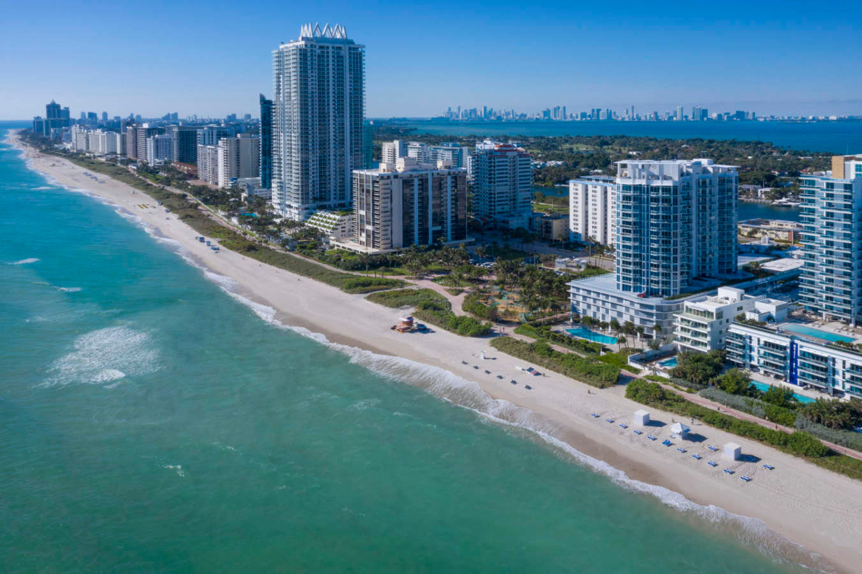 Miami Beach aerial by the hotel