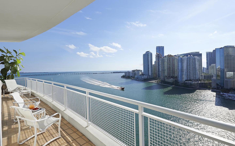Mandarin Oriental, Miami balcony
