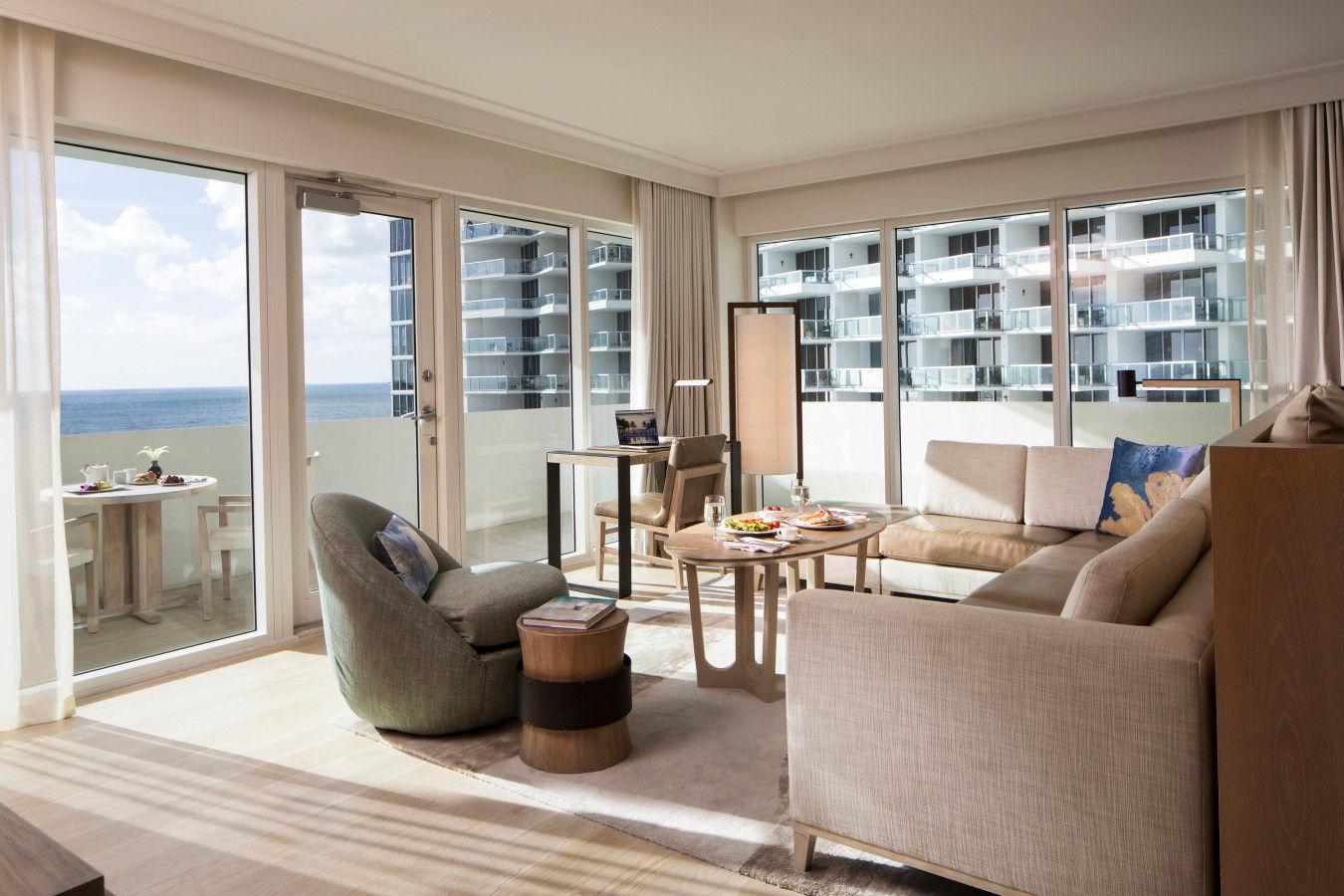 Zen Suite King с видом на океан - Нобу HotelMiami Beach