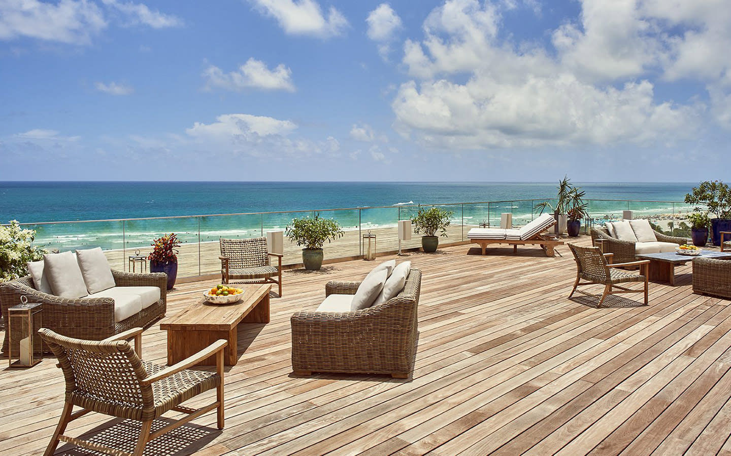 Oceanfront pool deck