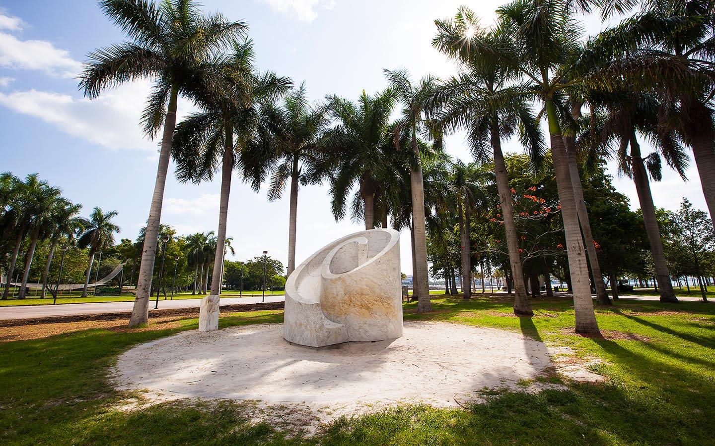 Slide artwork by Noguchi in Bayfront Park