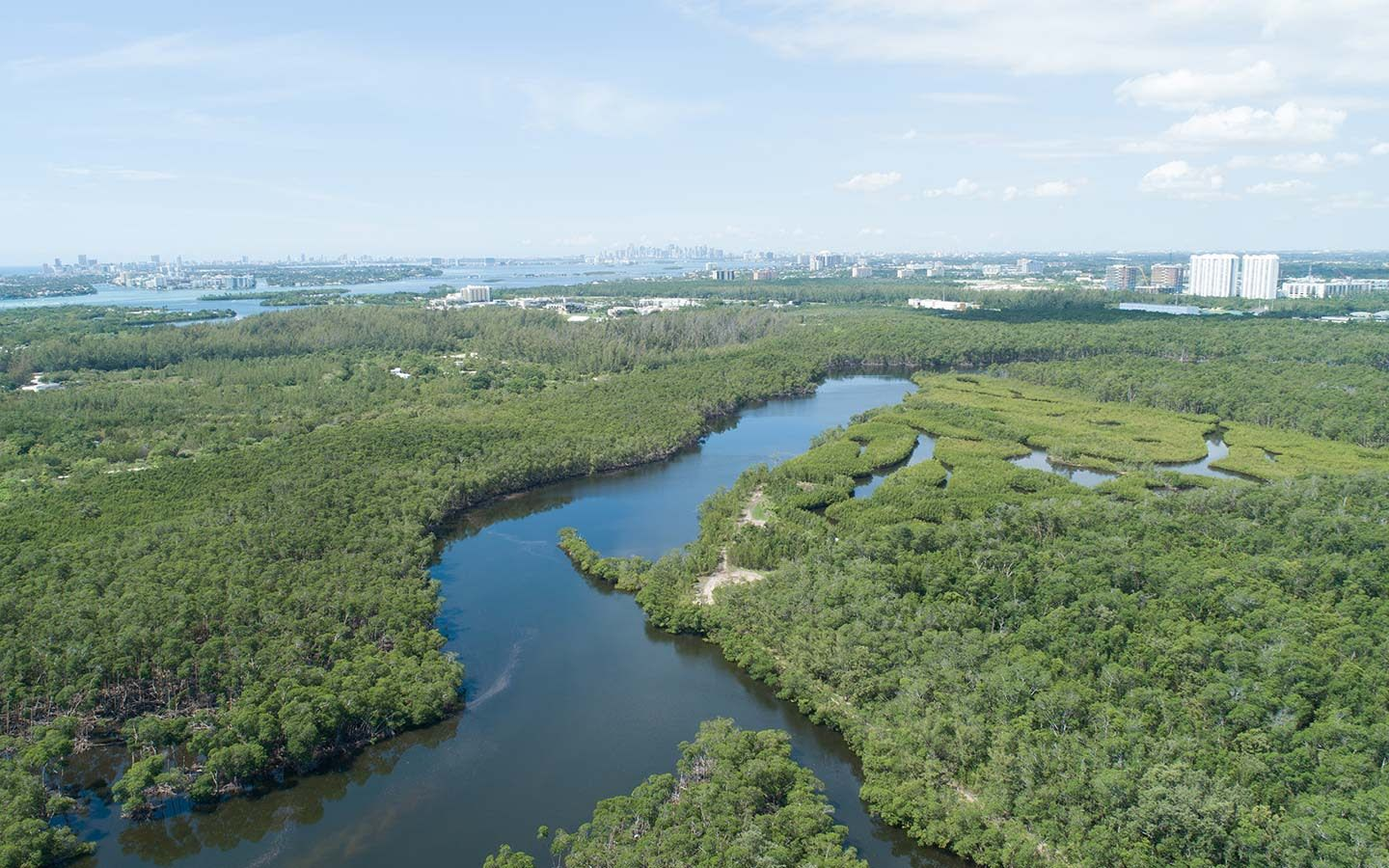 Oleta State Park Aerial View