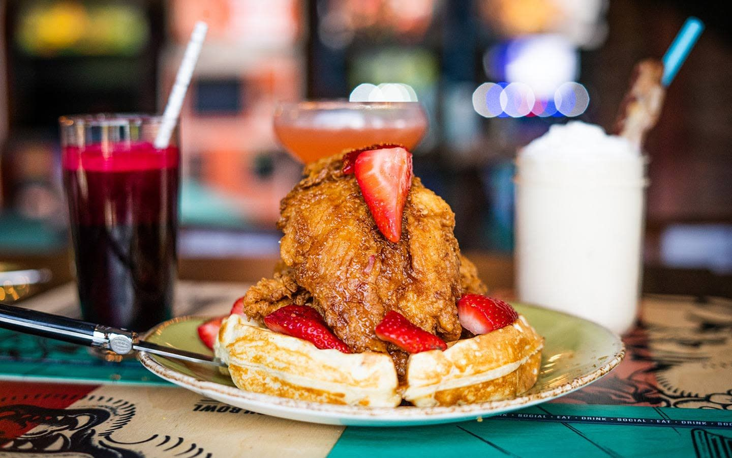 Punch Bowl Social Chicken & Waffles