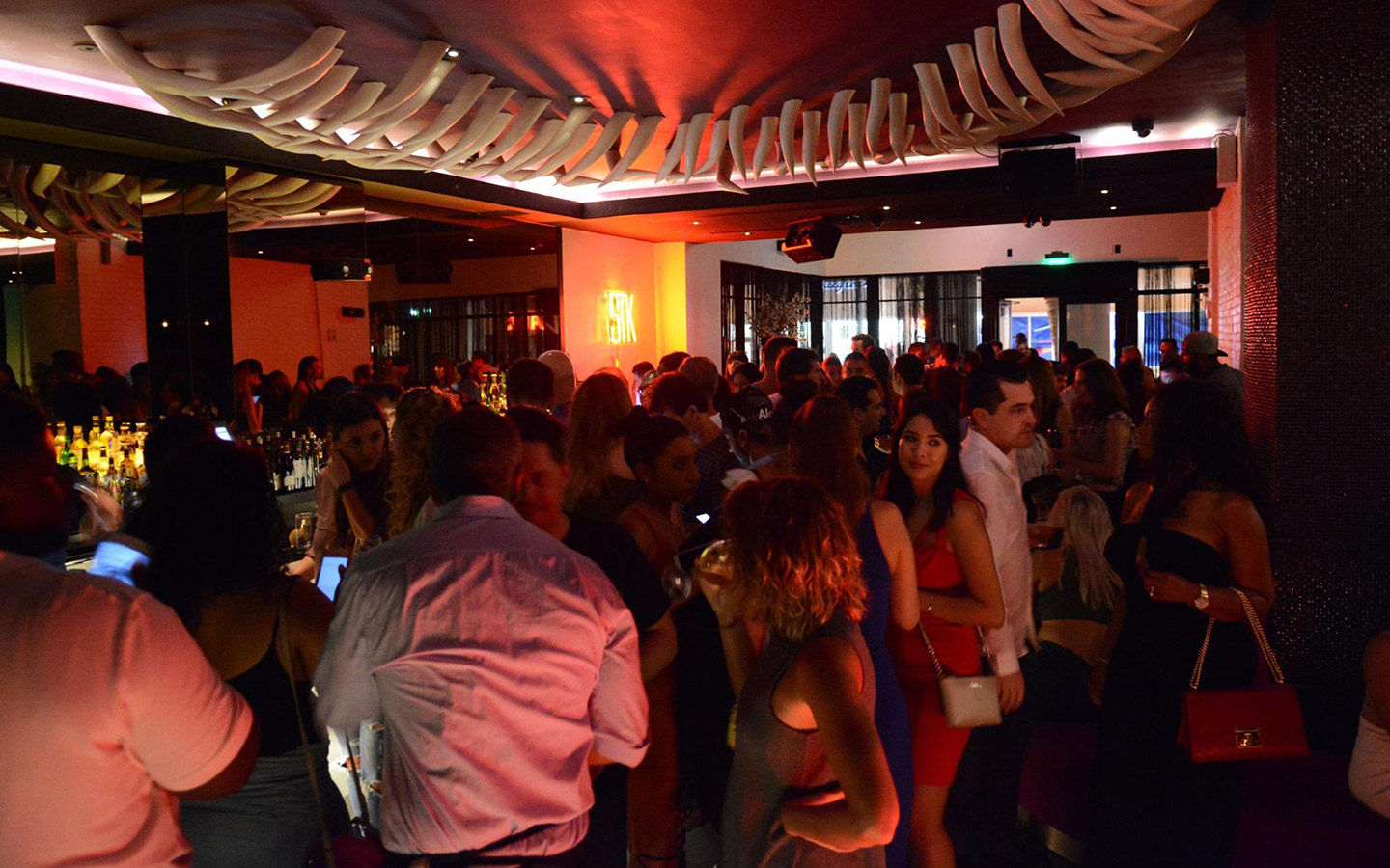 STK Miami Beach crowd