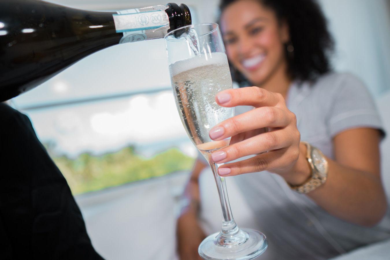 Clevelander Champagne in room