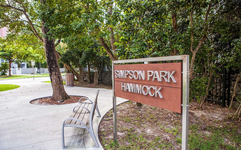 Simpson Park Entrance
