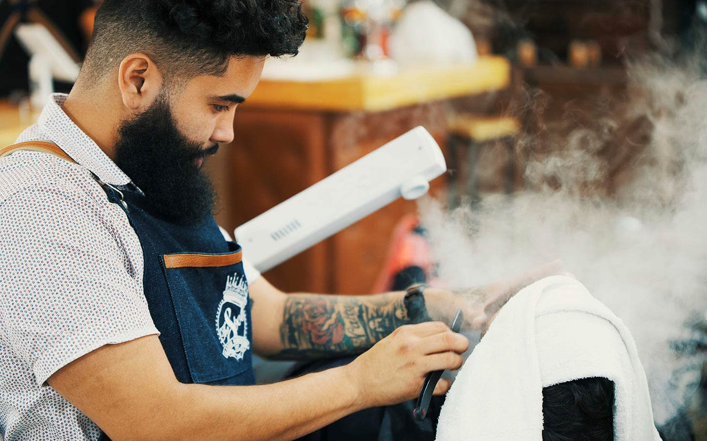 The Spot Barbershop steam towel