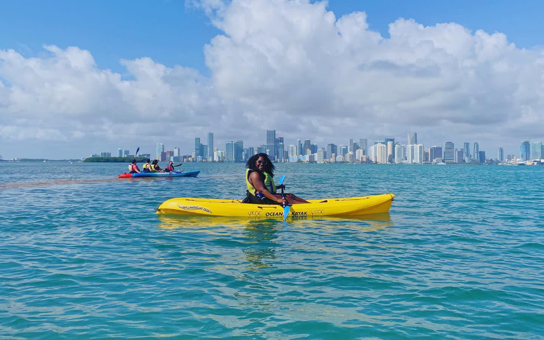 Kayaking in Biscayne Bay