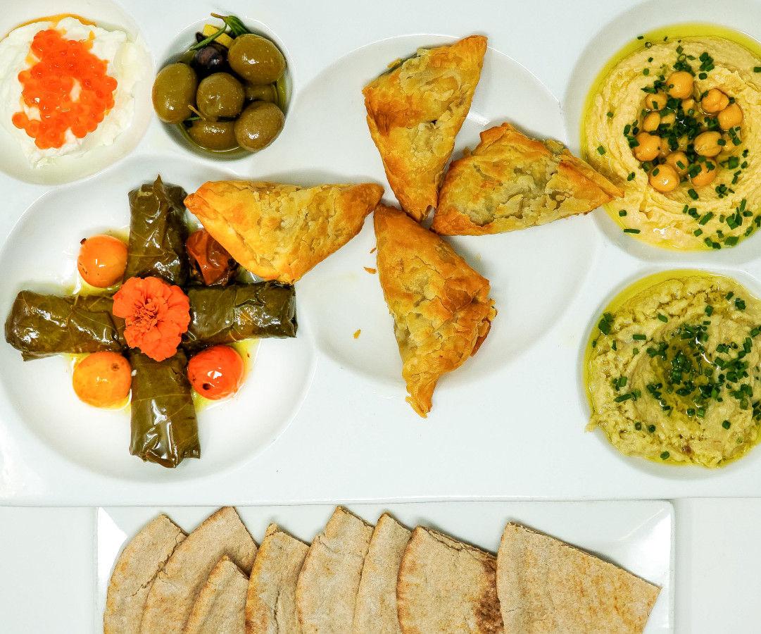 Mediterranean Platter at a Fish Called Avalon