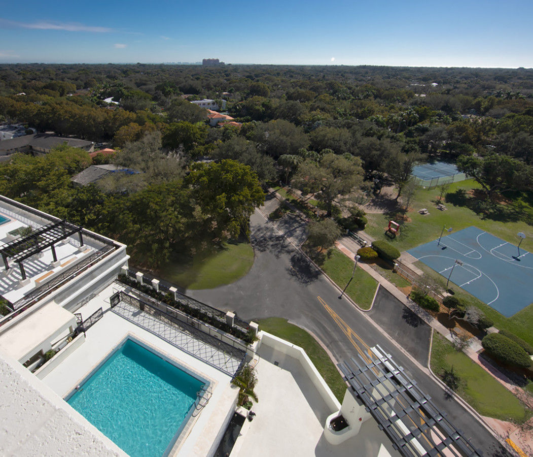 View of Coral Gables from the Rooftop Pool