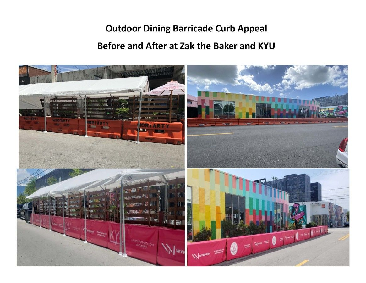 Outdoor Dining with Street Barricades