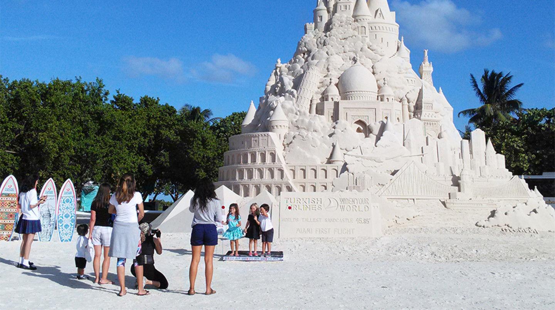 Historic Virginia Key Beach Park Largest Sand Castle