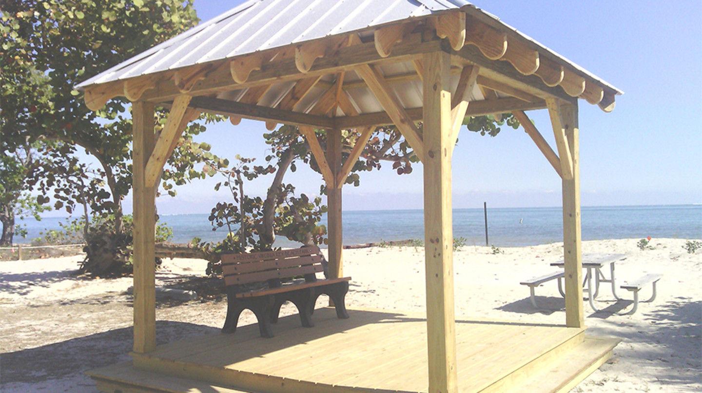 Historic Virginia Key Beach Park gazebo